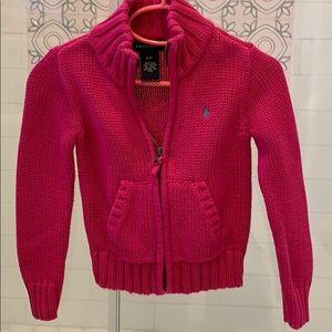 Ralph Lauren Girls ZIP Up Sweater